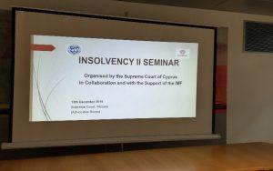 Σεμινάριο «Insolvency II»: Ενημέρωση Δικαστών, Νομικών Λειτουργών και Πρωτοκολλητών, σε θέματα Αφερεγγυότητας (φώτο & βίντεο)