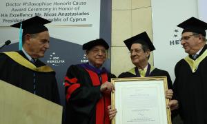 Ο Πρόεδρος της Δημοκρατίας αναγορεύθηκε σε Επίτιμο Διδάκτορα του Πανεπιστημίου ICD της πόλης Herzliya