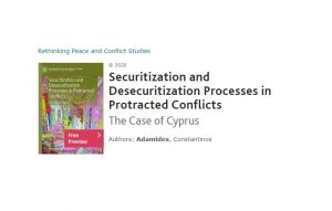 "New release:""Securitization and Desecuritization Processes in Protracted Conflicts: The Case of Cyprus"""