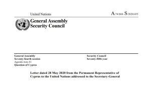 Η Κύπρος καταγγέλλει στον ΟΗΕ τις τουρκικές παραβιάσεις στον εθνικό εναέριο και θαλάσσιο χώρο της – Διαβάστε την επιστολή