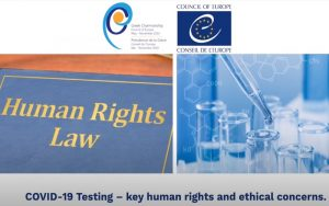 "Webinar on ""COVID-19 testing – key human rights and ethical concerns"" (vid)"