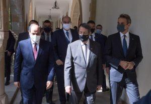Τη σημασία της συμφωνίας οριοθέτησης της ΑΟΖ Ελλάδας-Αιγύπτου τόνισαν Μητσοτάκης και Σίσι