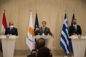 Κοινή Διακήρυξη Κύπρου, Αιγύπτου, Ελλάδας καταδικάζει τις παράνομες ενέργειες της Τουρκίας