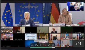 Συμμετοχή της Υπουργού Δικαιοσύνης και Δημόσιας Τάξης κας Έμιλυς Γιολίτη σε τηλεδιάσκεψη, με τους Υπουργούς Δικαιοσύνης της ΕΕ