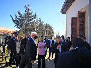 Επίσκεψη της Υπουργού Δικαιοσύνης στο νέο περιφερειακό Αστυνομικό Σταθμό Πισσουρίου και στον χώρο ανέγερσης νέου Πυροσβεστικού Σταθμού