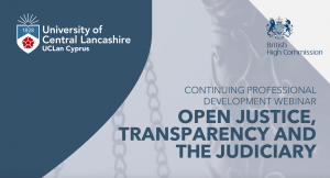 'Open Justice, Transparency and the Judiciary', Wednesday 31st March 2021, 18:00 Cyprus time 🗓