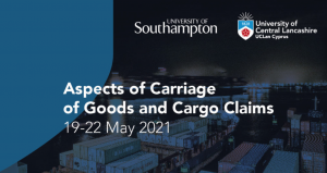 Bespoke Course 'Aspects of Carriage of Goods and Cargo Claims', 19-22 May 2021, UCLan Cyprus 🗓