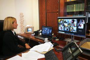 Συμμετοχή της Υπουργού Δικαιοσύνης κας Έμιλυς Γιολίτη σε διαδικτυακή συνάντηση της Επιτροπής Μεταρρύθμισης των Δικαστηρίων