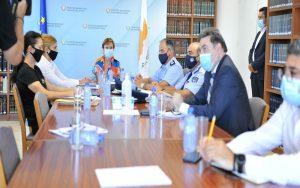 Σύσκεψη Υπουργού Δικαιοσύνης κας Στέφης Δράκου με τον Αρχηγό Αστυνομίας και τη Διευθύντρια του Τμήματος Φυλακών