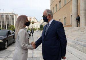 Στόχος της επίσκεψής της Αννίτας Δημητρίου στην Αθήνα είναι η ενίσχυση σχέσεων με τη Βουλή των Ελλήνων.